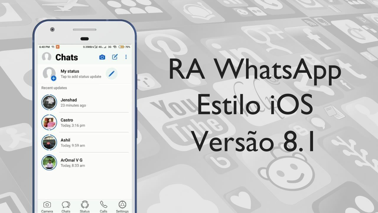 RA WhatsApp Estilo iOS