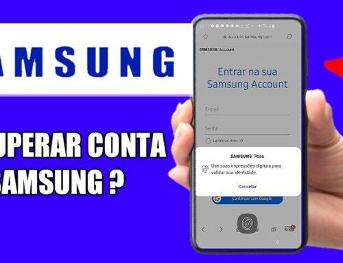 Como recuperar a conta da Samsung